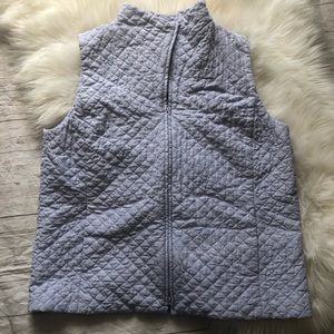 Eileen Fisher lavender silk quilted vest